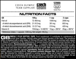Omega 3 Plus Softgel caps, 120caps (Nutrend)