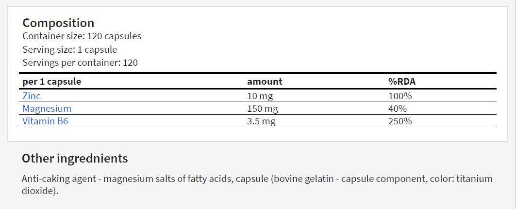 Hitec Nutrition ZMA 100 caps