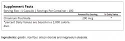 Ultimate Nutrition Chromium Picolinate 100caps