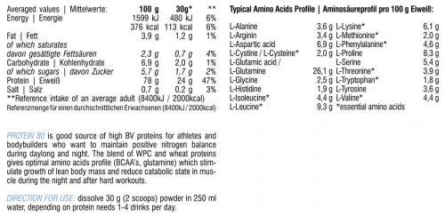 Hitec Nutrition Protein 80 1000g