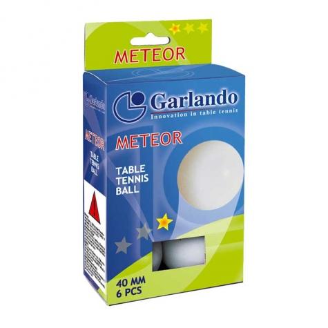 6 Μπαλάκια Ping Pong METEOR 1star Garlando