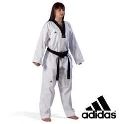 ΣΤΟΛΗ TAEKWONDO - ADIDAS TAEKWONDO UNIFORM - CHAMPION III BLACK COLLAR