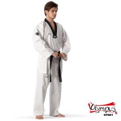 Taekwondo Uniform Olympus QD RIBBED Black Collar