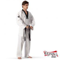 Taekwondo Uniform Olympus QD RIBBED Black Collar