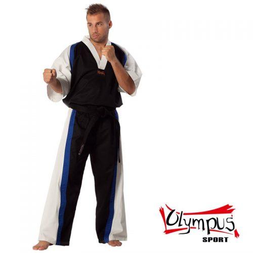 Semi Contact Uniform – Black/White & Blue Stripe