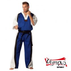 Semi Contact Uniform – Blue/White & Black Stripe