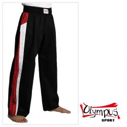 Trousers Olympus Cotton Black (red/white stripe)