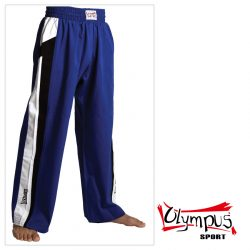 Trousers Olympus Cotton Blue (black/white stripe)