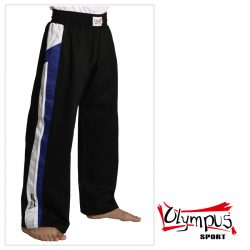 Trousers Olympus Cotton Black (blue / white stripe)
