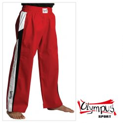 Trousers Olympus Cotton Red (black/white stripe)
