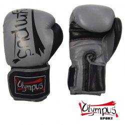 Boxing Gloves Olympus Leather ELITE Black/Grey