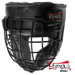 Head Guard Olympus Leather Gladiator Metal Cage