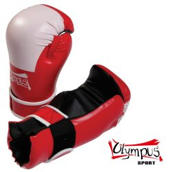 Semi Contact Gloves PVC - Competition Red / White