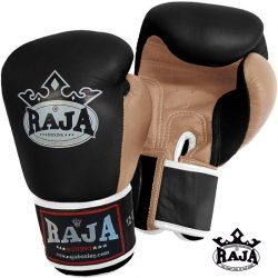 BOXING GLOVES RAJA GENUINE LEATHER RBGV-1 DOUBLE COLOR
