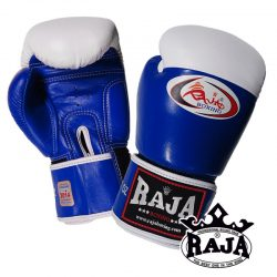 Boxing Gloves RAJA Genuine Leather RBGV-1 COMPETITON Velcro - Blue