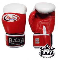 Boxing Gloves RAJA Genuine Leather RBGV-1 COMPETITON Velcro - Red