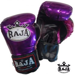 BOXING GLOVES RAJA LEATHER SHINY PURPLE VELCRO