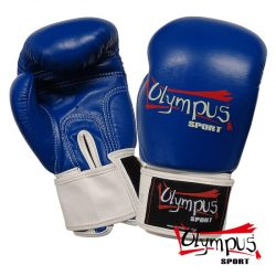 Boxing Gloves Olympus by RAJA Genuine Leather Double Color - Blue / White