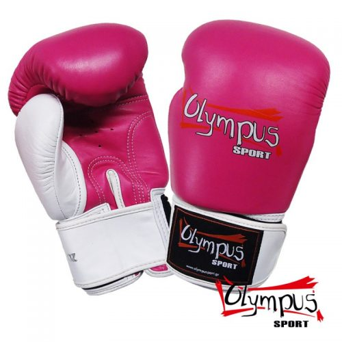 Boxing Gloves Olympus by RAJA Genuine Leather Double Color - Fux / White