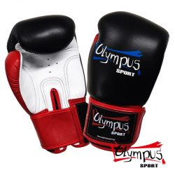 Boxing Gloves Olympus by RAJA Genuine Leather Triple Color - Black / Red / White