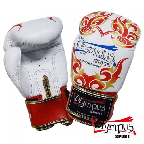 Boxing Gloves Olympus by RAJA Genuine Leather TATTOO - White