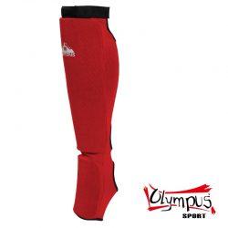 Shin Instep Guard Olympus Cotton JJ Red