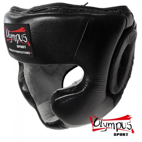 Head Guard Olympus Leather Training Chin and Chick protection