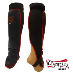 Shin Instep Guard Olympus MMA Leather / Neoprene Pair