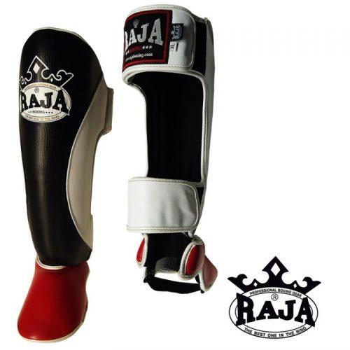 Shin Instep Guard Raja Leather THREE COLOR - Black / White / Red