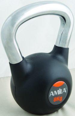 Kettlebell με επένδυση λαστίχου ΚΙΛΟ/4,00€  Amila