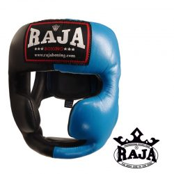Head Guard Raja Chin and Cheek Protection Leather Black / Blue