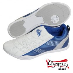 Training Shoes Olympus - KICK LIGHT (White with blue / silver stripes)