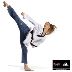 DOBOK ADIDAS POOMSAE ADULT FEMALE WHITE/LIGHT BLUE – ADITPAF01