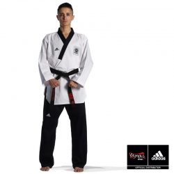 DOBOK ADIDAS POOMSAE ADULT MALE WHITE/DARK BLUE – ADITPAM01