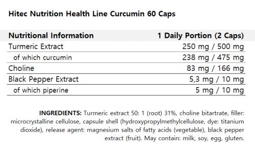 Hitec Nutrition Health Line Curcumin 60 Caps